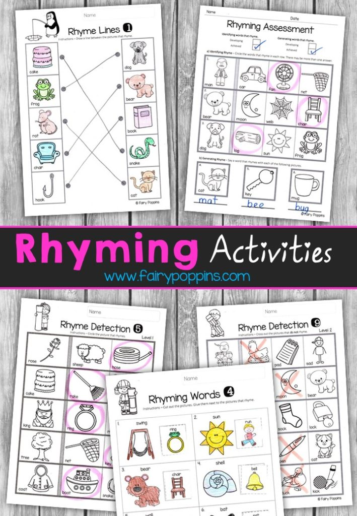 Rhyming Activities Fairy Poppins