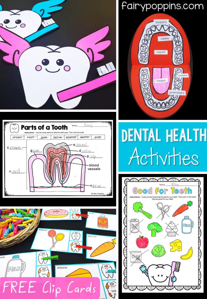 Dental Activities For Kids Fairy Poppins - Download Dental Health Worksheets Kindergarten Background